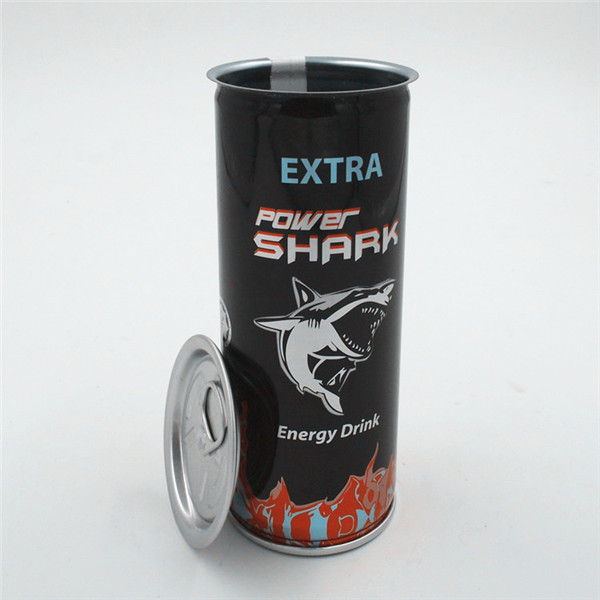 Metal ring-pull tin can_250ml_for energy drink
