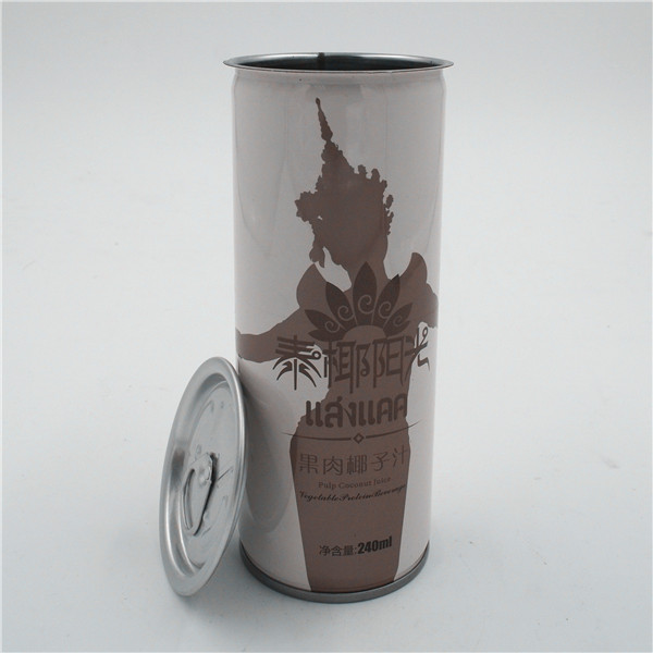 Metallic tin can_240ml_ for packaging coconut milk